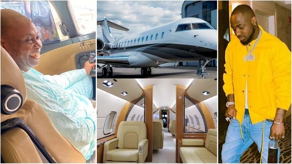 AZAMAN!!!! See the inside video of the New Private Jet Davido's Father - Adedeji Adeleke just bought!